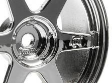 HPI Racing Комплект дисков 1:10, для шин TE37, хром, шир.26мм, вылет 0мм, шоссе, адаптер 12мм,2шт-фото 1