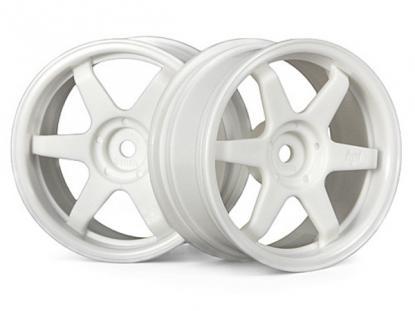 HPI Racing Комплект дисков 1:10, для шин TE37, белый, шир.26мм, вылет 3мм, шоссе, адаптер 12мм, 2шт