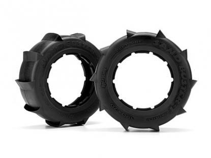 HPI Racing Комплект передних шин 1:5, 190x70мм, резина - M Compound, SAND BUSTER-T RIB, 2шт