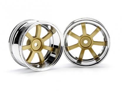 HPI Racing Комплект дисков 1:10, для шин 57S-PRO, хром/золото, шир. 26мм, вылет 9мм, 2 шт