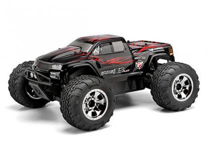 HPI Racing Корпус 1/10 GT-2 XS (с наклейками), окрашенный (красный/черный/серый) для Savag XS