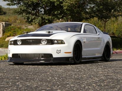 HPI Racing Корпус 200мм 2011 FORD MUSTANG лексановый, некрашеный. Декали, наклейки и маски в компл.