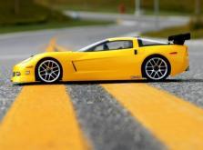 HPI Racing Корпус 1/10 Chevrolet Corvette C6,неокрашенный. Колёсная база 255мм. Ширина шасси 200мм-фото 1