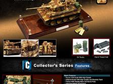 Коллекционная модель танка VSTank German Tiger I 1:24 EP-фото 1