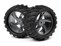 HPI Maverick Комплект колёс (шина+диск) 1:18, 42мм  для ION MT (2шт)