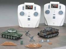 Танковый бой на радиоуправлении Т-34 и German Tiger I Grey 1:72-фото 1