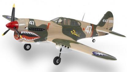 Радиоуправляемая модель копия  Curtiss P-40 Warhawk