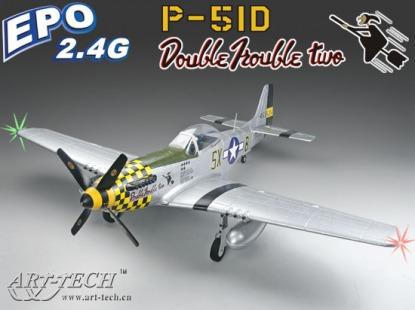 Радиоуправляемая модель самолета P-51D Mustang  Art-Tech