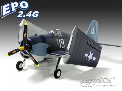 Радиоуправляемый самолет модель копия  F6F Hellcat 2.4GHz (RTF Version)