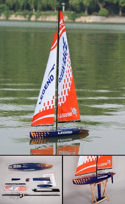 Парусная яхта на радиоуправлении  Legend RC 2.4 Ghz (RTR Version)