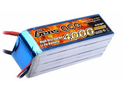 Аккумулятор AE Gens Ace Li-Po battery 22.2V 4000 mAh 6S1P 25C Soft Case