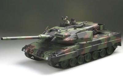 Радиоуправляемый танк  German Leopard 2 A6 NATO 1:24 Airsoft /JR (Camouflage RTR Version)