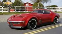 Радиоуправляемый автомобиль Vaterra Custom Chevrolet Corvette Stingray 1969 1:10 RTR