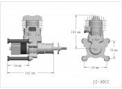 Профессиональный авиамодельный бензиновый двигатель JC30 EVO-фото 3