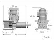 Профессиональный авиамодельный бензиновый двигатель JC60 EVO-фото 2