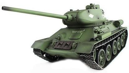 Радиоуправляемый танк 2.4GHz 1:16 Heng Long T-34 с пневмопушкой и дымом
