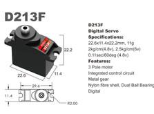 Сервопривод микро 11г BATAN D213F 2.0кг/0.11сек металл цифровой-фото 1