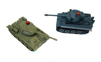 Радиоуправляемый танковый бой 1:32 HuanQi 555 Tiger vs Т-34