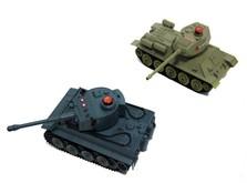 Радиоуправляемый танковый бой 1:32 HuanQi 555 Tiger vs Т-34-фото 1
