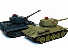 Радиоуправляемый танковый бой 1:32 HuanQi 555 Tiger vs Т-34-фото 2