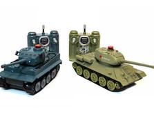 Радиоуправляемый танковый бой 1:32 HuanQi 555 Tiger vs Т-34-фото 3