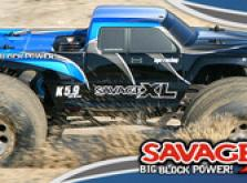 Автомобиль HPI Savage XL 5.9 Nitro Gigante 4WD 1:8 2.4GHz (Blue RTR Version)-фото 4