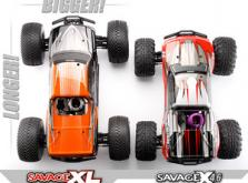 Автомобиль HPI Savage XL 5.9 Nitro Gigante 4WD 1:8 2.4GHz (Orange RTR Version)-фото 5
